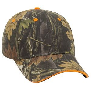 OTTO Camouflage Brushed Cotton Blend Twill Sandwich Visor 6 Panel Low Profile Baseball Cap