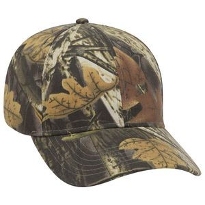 OTTO Camouflage Brushed Cotton Blend Twill 6 Panel Low Profile Baseball Cap