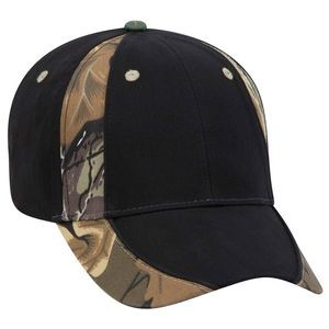 OTTO Camouflage Piping Design Brushed Cotton Blend Twill 6 Panel Low Profile Baseball Cap