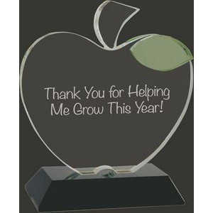 Making a Difference Optic Crystal Apple Award - 6 1/4'' H