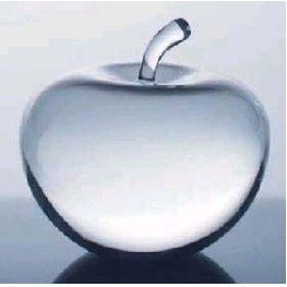 Optical Crystal Apple Paperweight